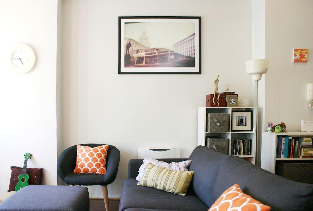 Bright, light living area