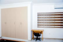 Fitted wardrobes in the bedroom