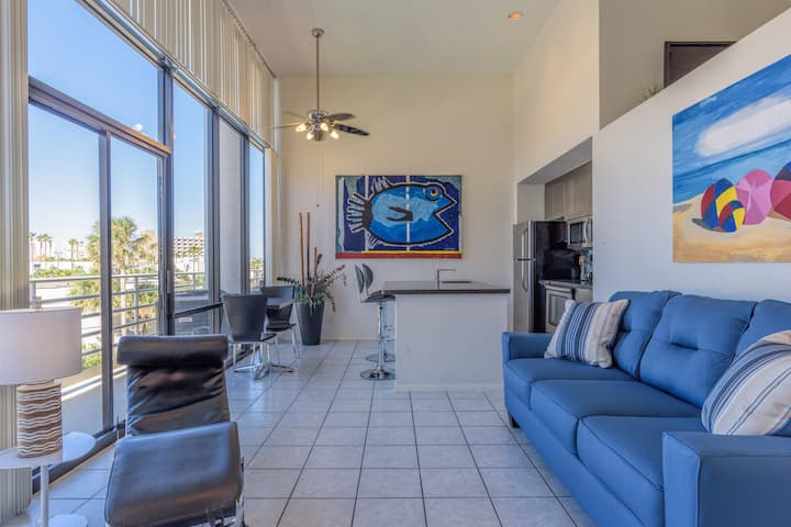 The Coolest One Bedroom Loft on South Padre Island - in a Beachfront Resort!