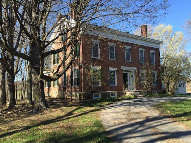 Historic 200 Year Old Brick House on 100 Acre Farm