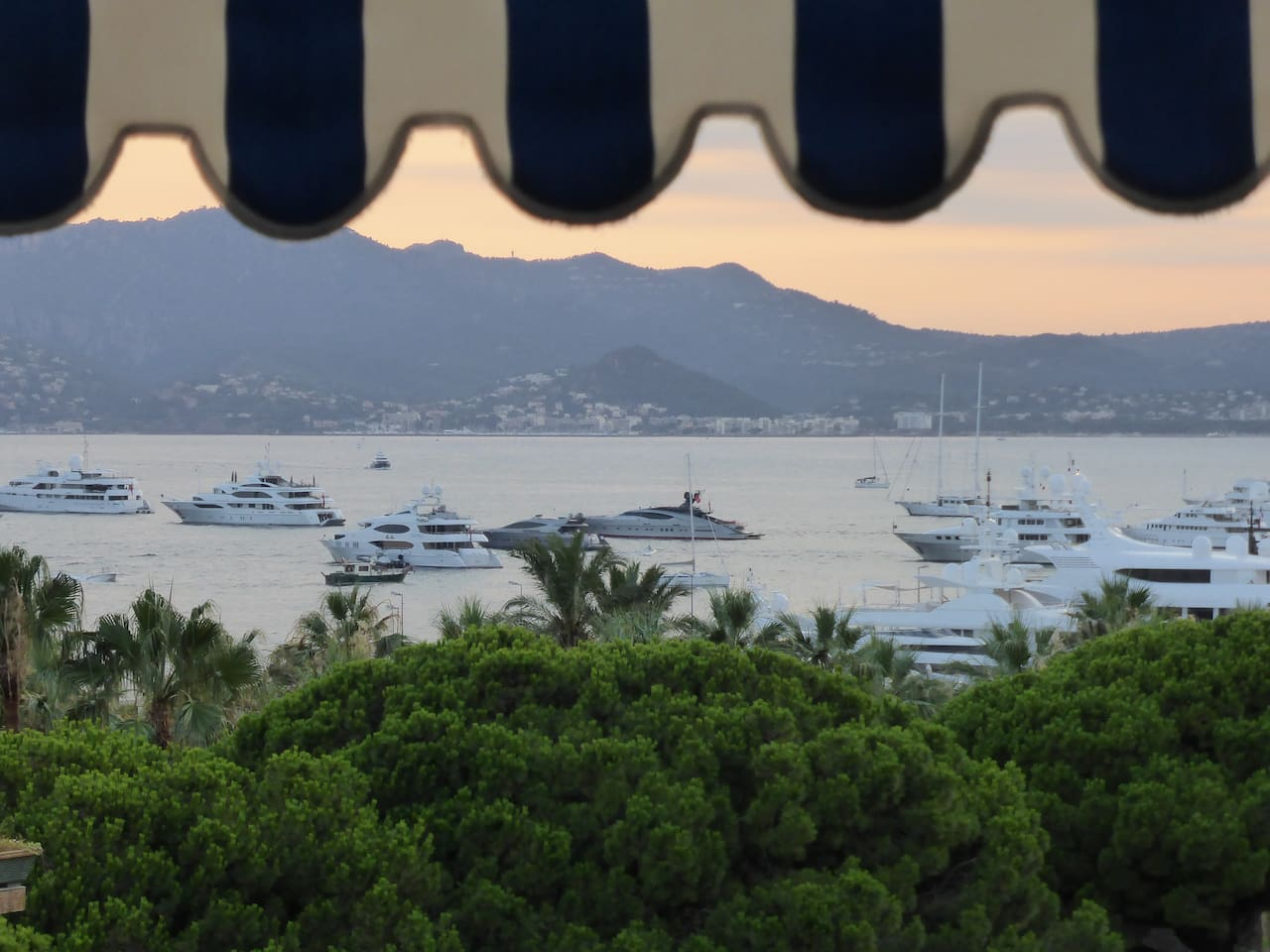 BAY of Cannes; the weather is back to sunny  and warm.