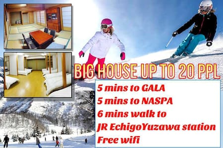 FJ01 Japanese BigHouse/GALA ski 2min/WiFi/ 220㎡/