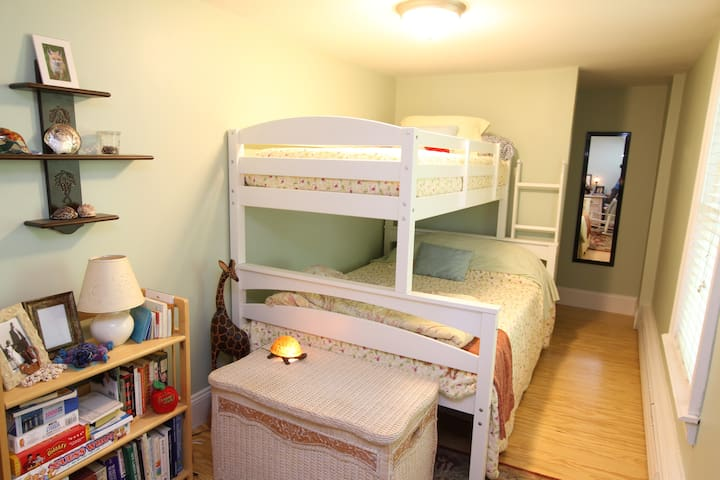 Second Bedroom w/ Full & Twin Bunk Bed.