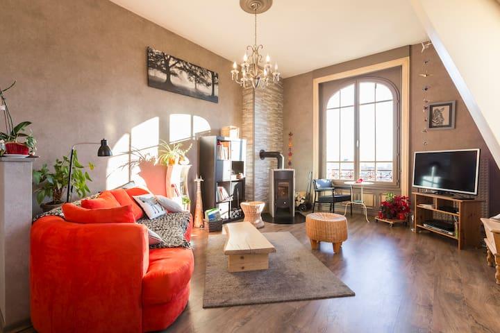 """""""Petit nid"""" dans maison de maître - Saint-Dié-des-Vosges - Apartment"""