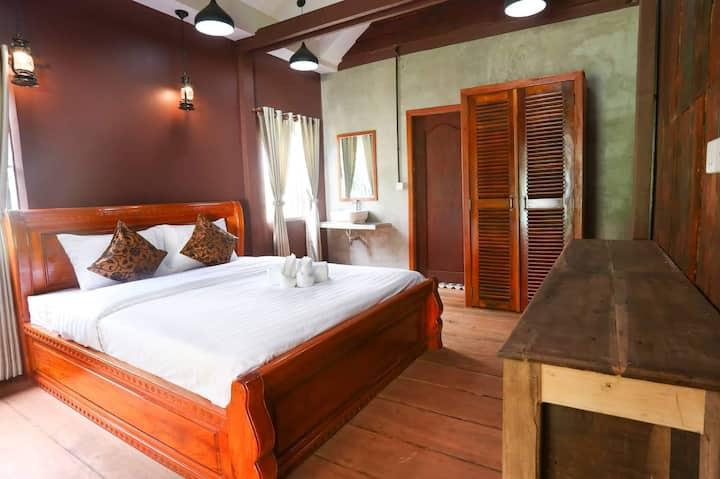 Khmer Tropical wooden house ,