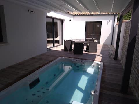 Maison de charme spa de nage & sauna privatifs