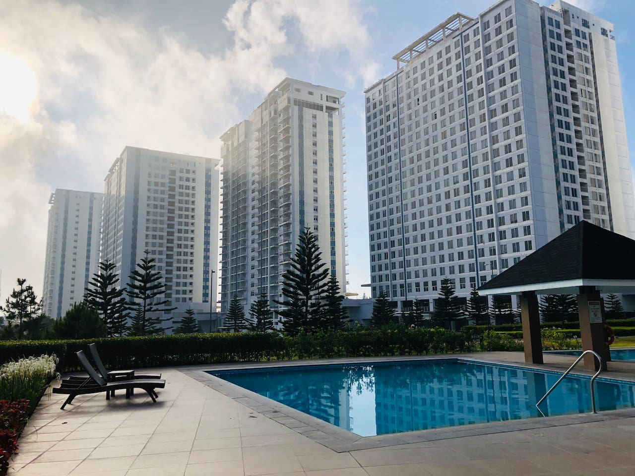 Picturesque view of Wind Residences Towers and Outdoor Swimming Pool