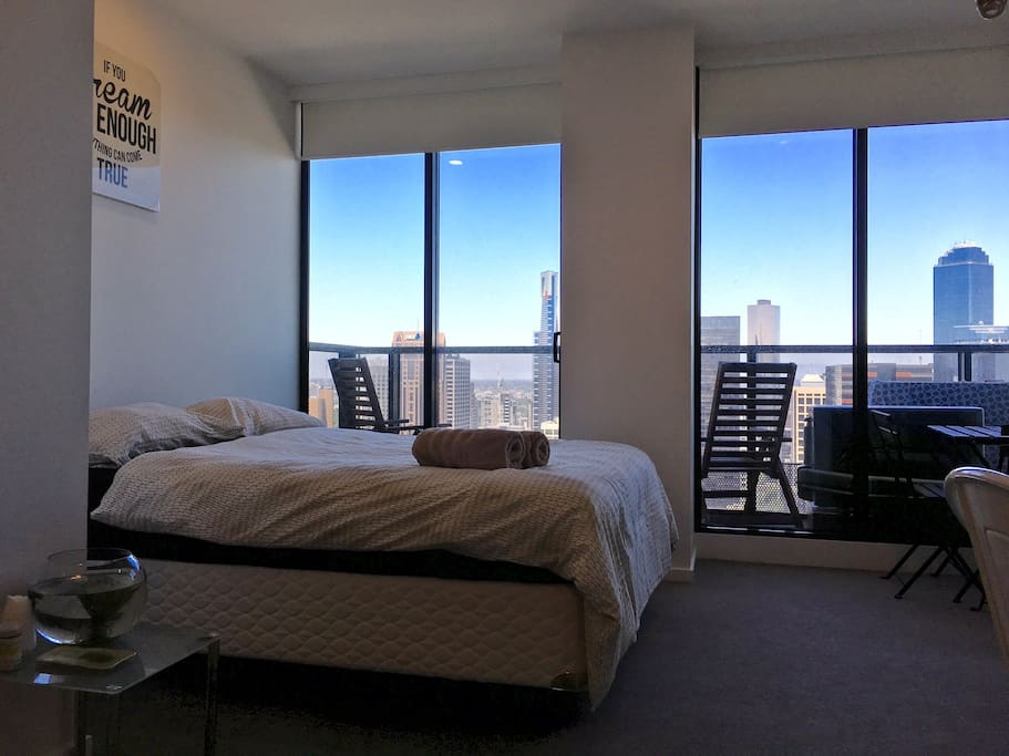 top floor apartment overlook city