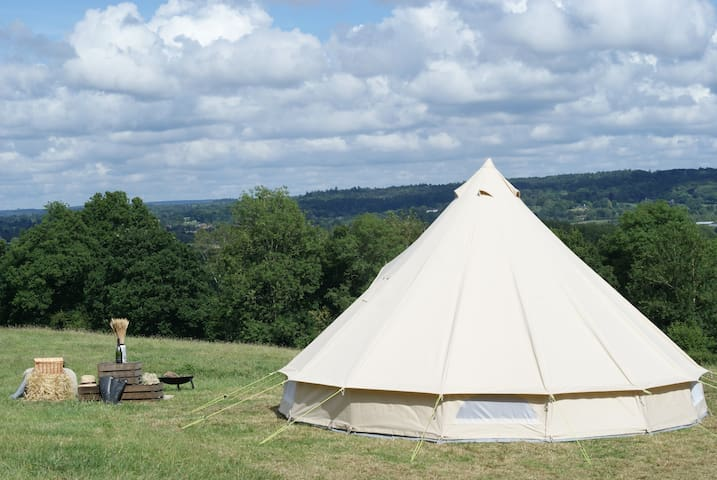 Luxury bell tent in the South Downs National Park