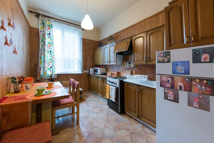 Sunny flat close to City Center-also for long stay