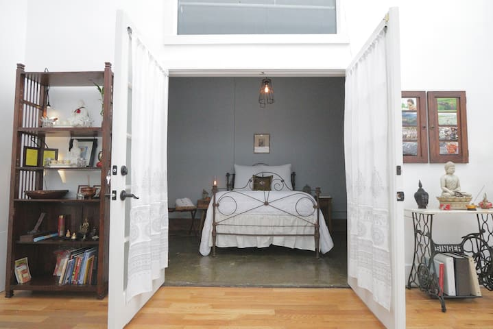 Full light or complete privacy, keyed double doors