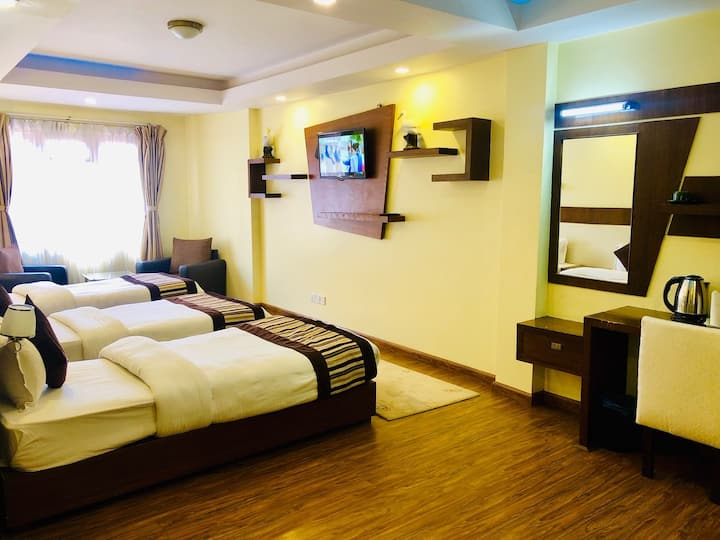 Deluxe Triple Sharing Room at Backyard Hotel