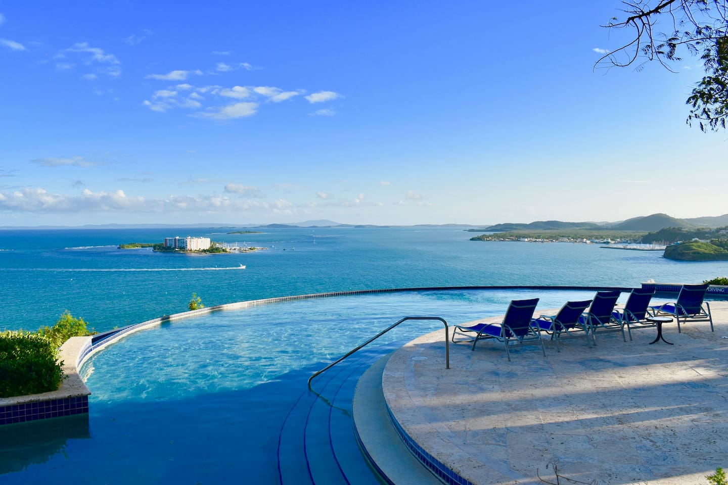 Infinity Pool stunning views of the ocean and near islands.