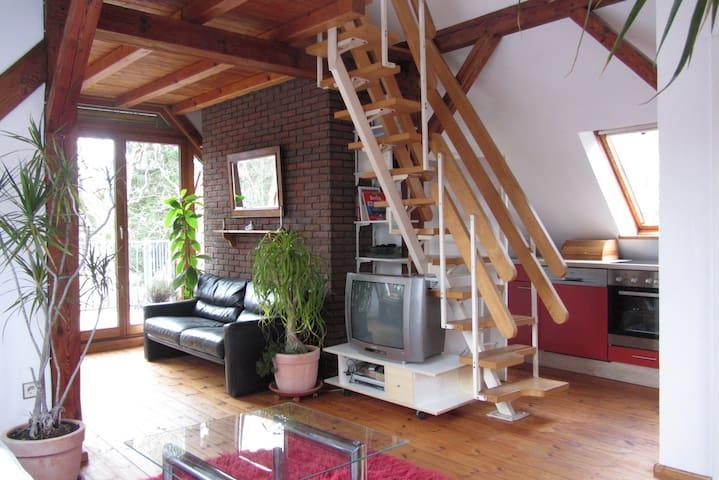 Sonnige Dachwohnung mit Balkon - Berlin - House