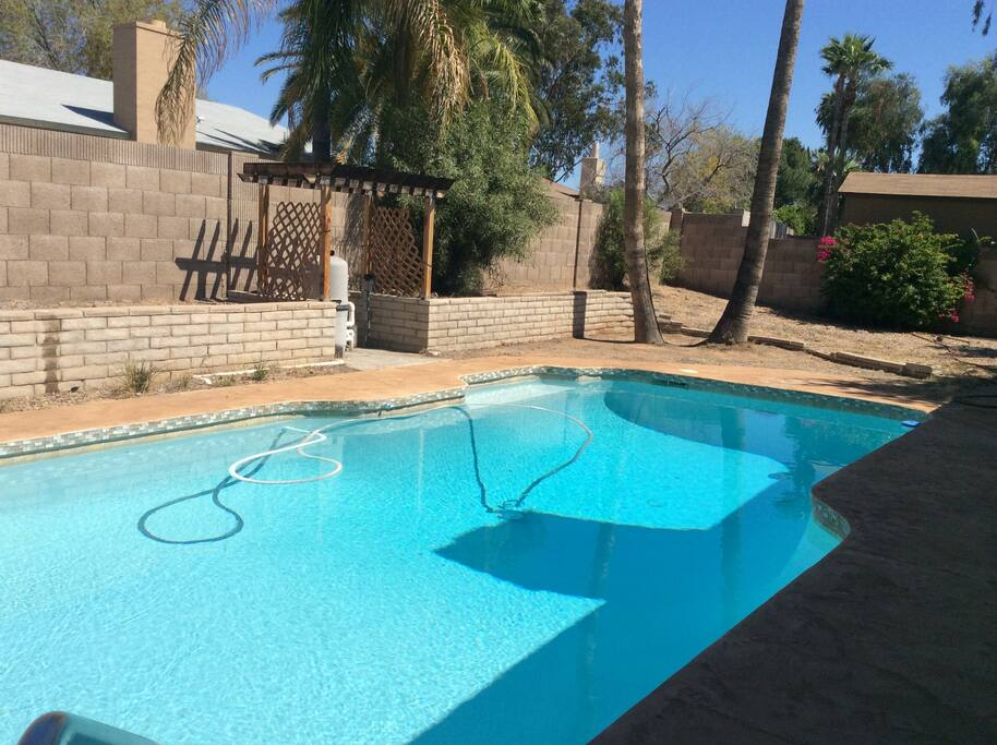 The pool is an oasis in the heat of Phoenix!