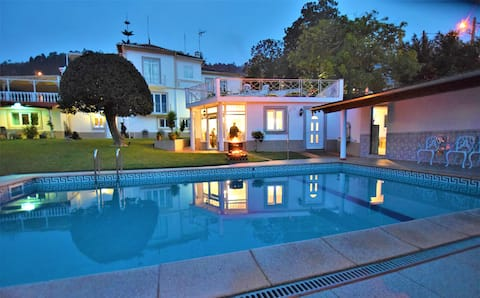 Bungalow on a Manor with Pool and Garden