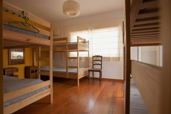 6 Bed shared dorm with private bathroom