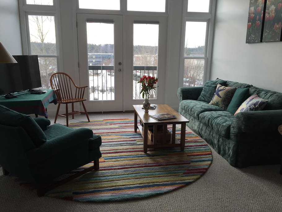Living room overlooking Southern Village