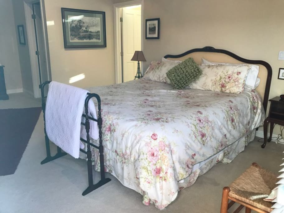 Cal King Bed + Linens