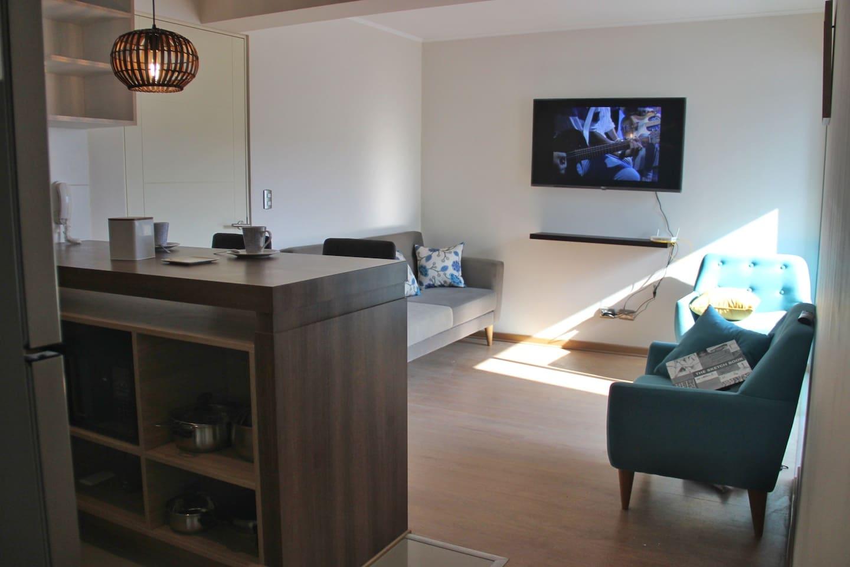 Vista del Kitchenette hacia el livingroom