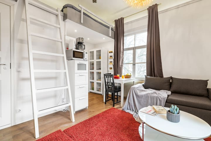 Loft-style, near Old Town, free parking