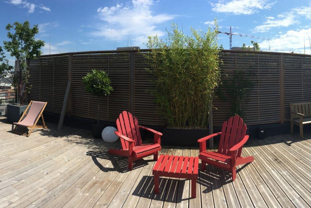 La terrasse en rooftop
