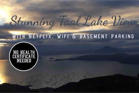 Stunning Taal Volcano view with Netflix & wi-fi