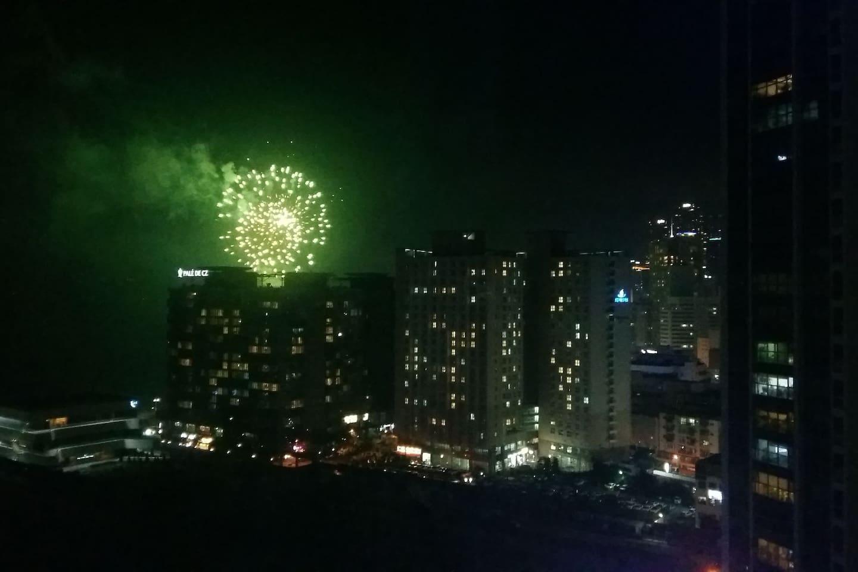 firework in Haeundae beach