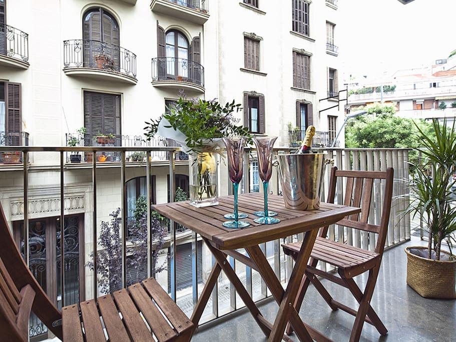 Terraza privada con vistas a la ciudad