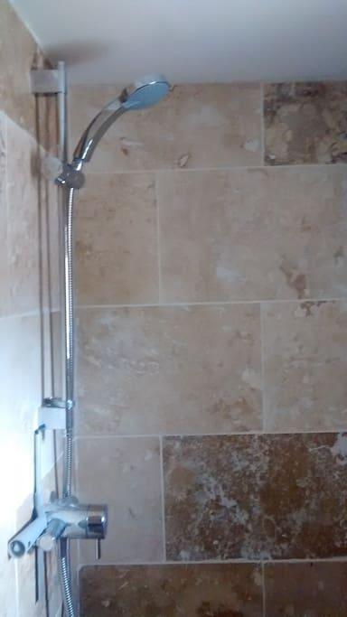 Jack-and-Jill bathroom - shower