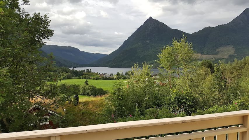 view over the Bjørkedal lake