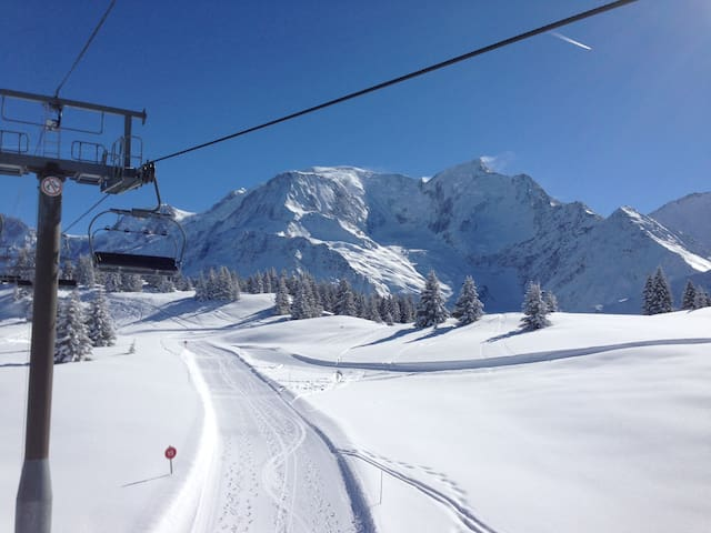 Les pistes de ski des Houches