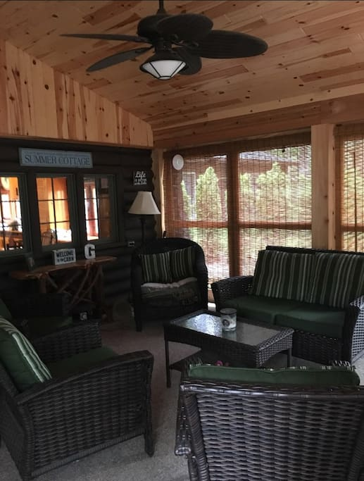 Lake Porch:  1 of 2 16x16 Screened Porches