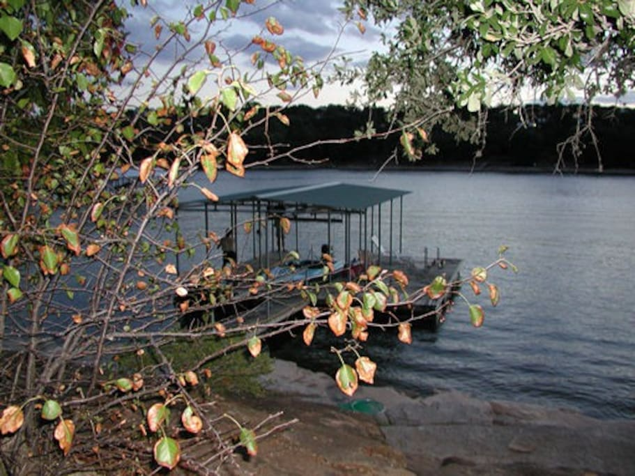 Boat dock with large side to fish and play from