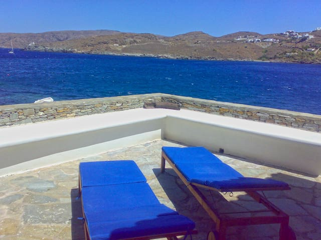 Amazing Veranda with View Kithnos Villa - Merichas