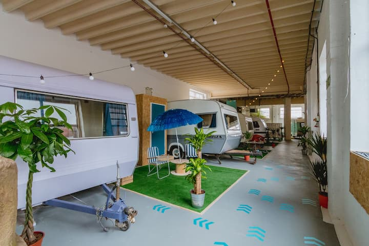 Indoor Campground and Event Space.