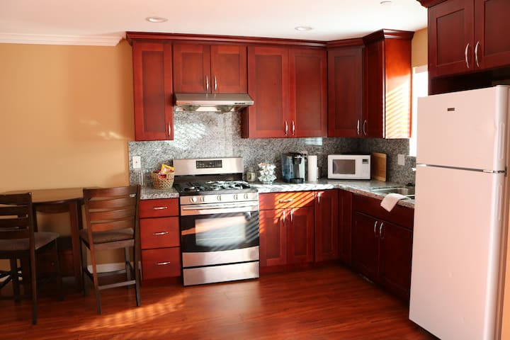 Kitchen have everything you need to make a hot meal after a long day at work or fun