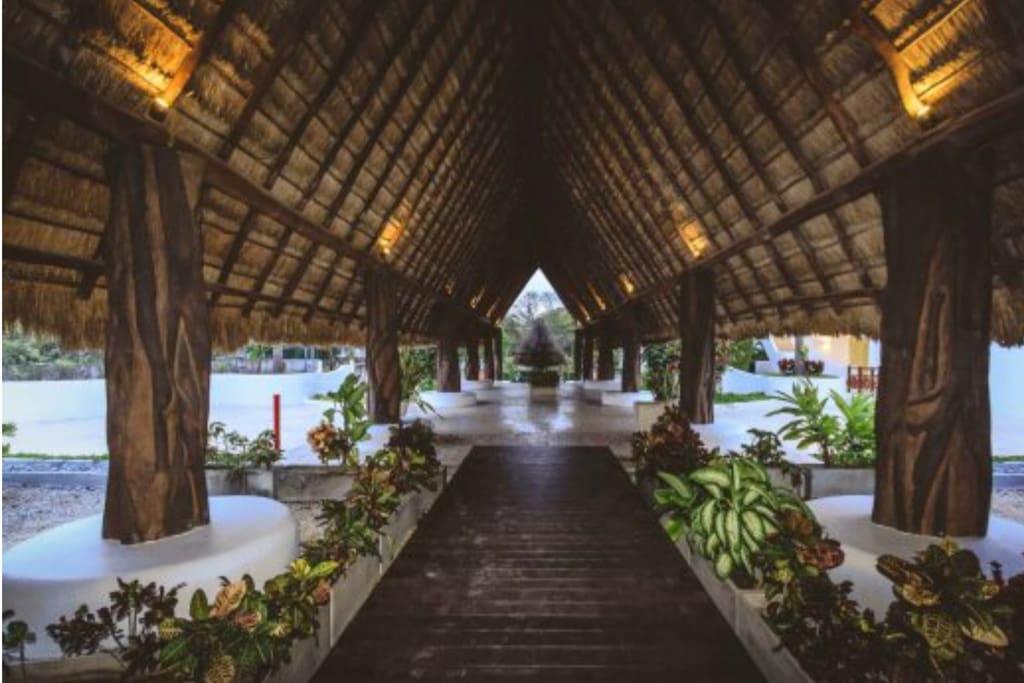 Beautiful Palapa as you enter
