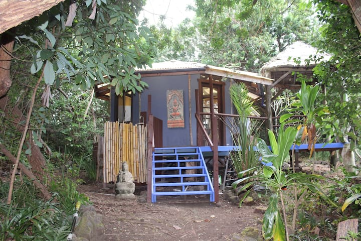 The Mandala Eco-Hale near Green Sand Beach! - Naalehu - Kabin