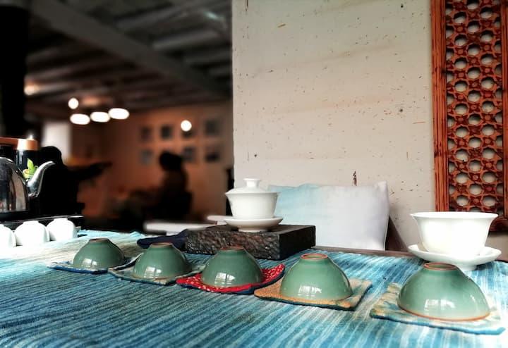 休息茶室及扎染茶席