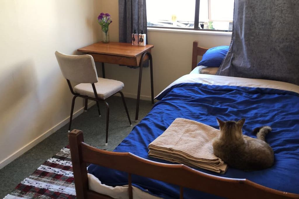 Lily our cat loves snuggling up on the bed, but can be put upstairs I you'd prefer!