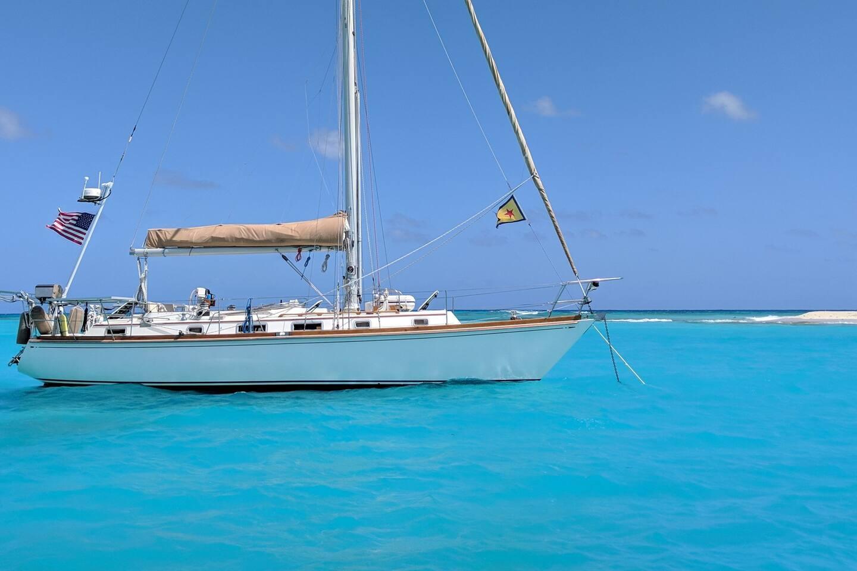 At anchor off Buck Island, St Croix, USVI