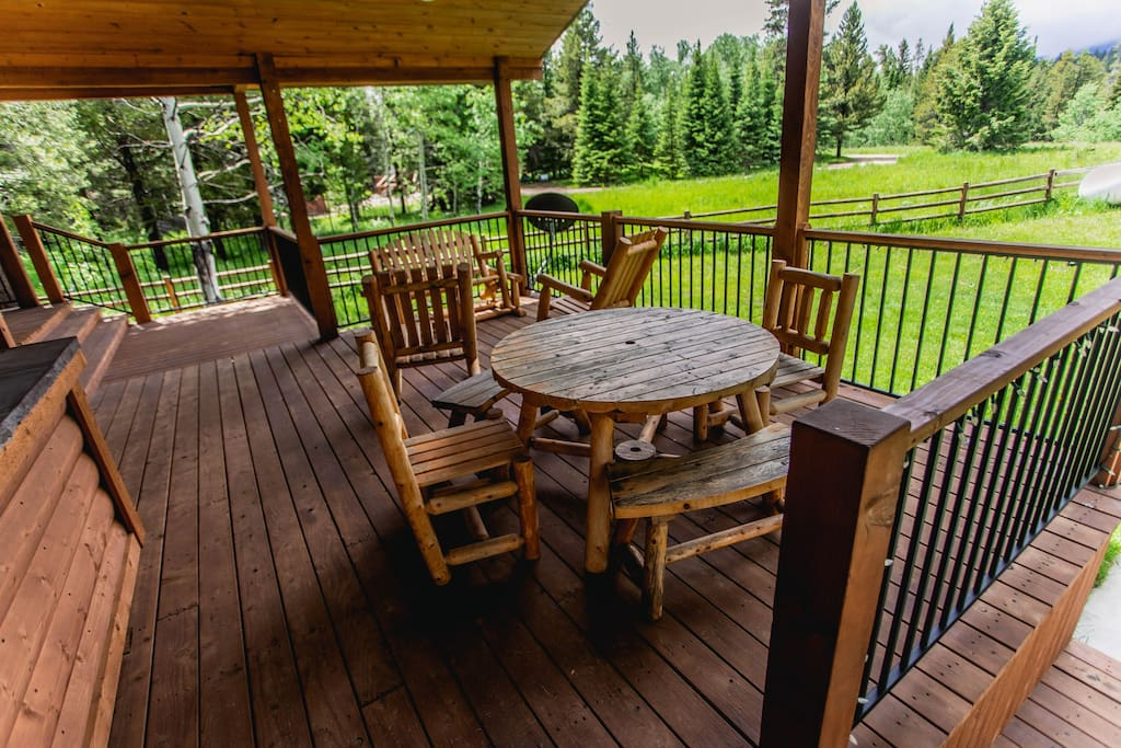 Eat outside on the deck, or play a competitive card game with family and friends!