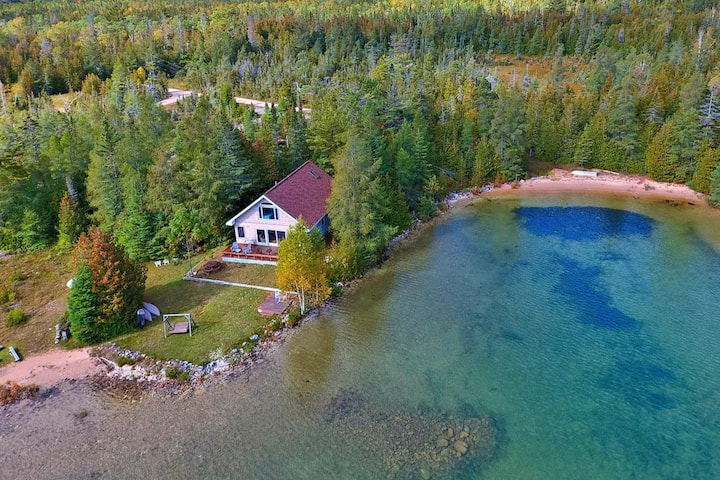 Lake Huron waterfront cottage with private beach