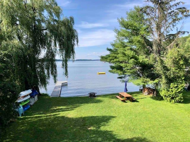 Waterfront Home, Sandy Beach, Belgrade Lakes Maine