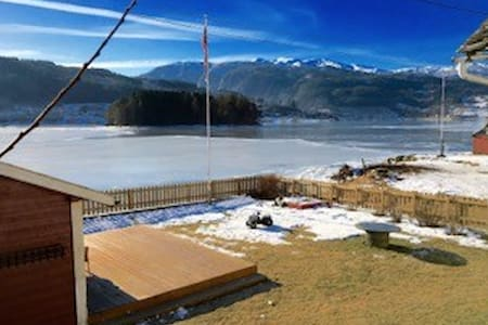 Exceptional house with private fjord beach - Ulvik