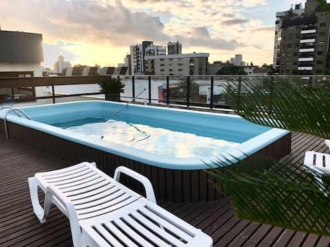 Loft no topo da Bela Vista - Rooftop com piscina