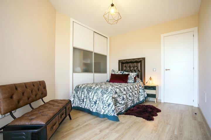 segunda habitacion con dos camas de 1,05