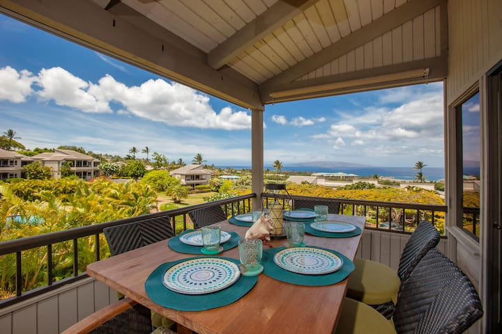 Stunning 2-Story Wailea Townhome!BEST OCEAN VIEWS! - Wailea-Makena - Condominio