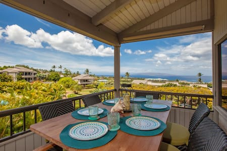Gorgeous 2-Story Wailea Townhome!BEST OCEAN VIEWS! - Wailea-Makena - Ortak mülk